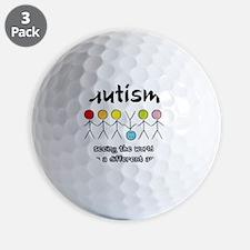 autism angle Golf Ball