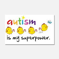 autism superpower Car Magnet 20 x 12