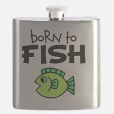 born to fish Flask