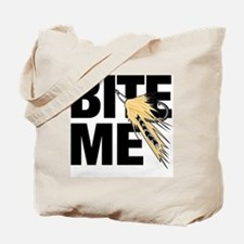 bite me fishing Tote Bag