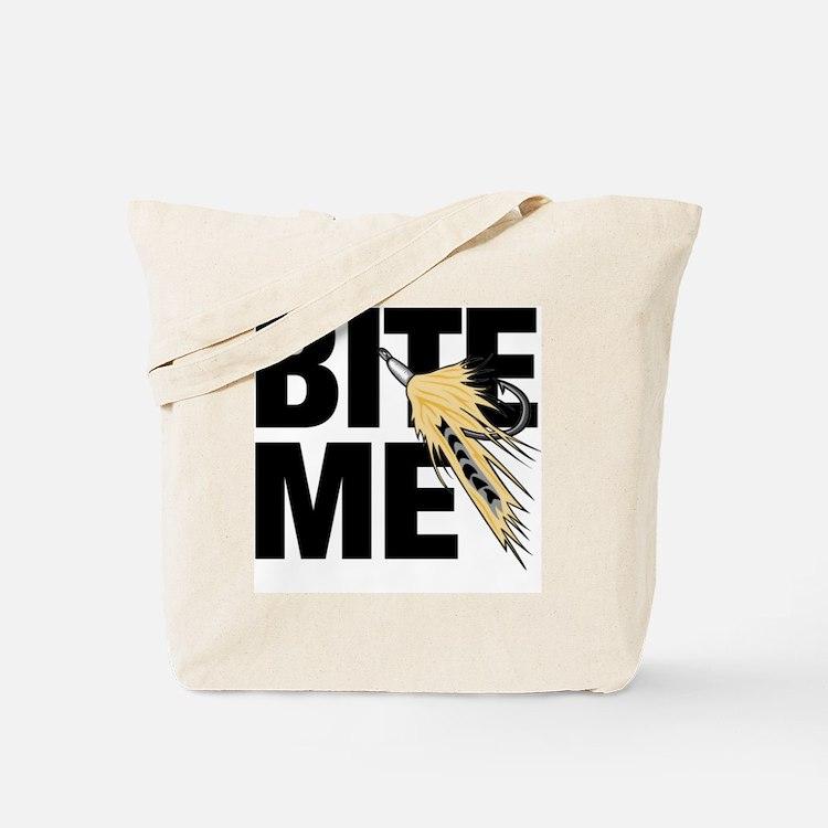bite me fishing Tote Bag