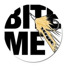 bite me fishing Round Car Magnet