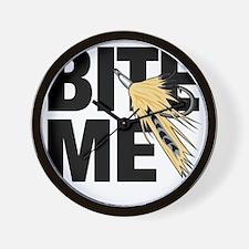 bite me fishing Wall Clock
