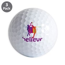 cp_believevolleyball Golf Ball
