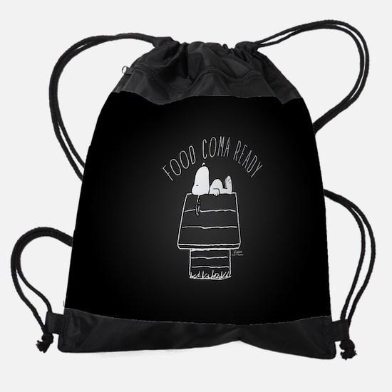 Food Coma Ready Drawstring Bag