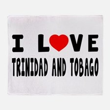 I Love Trinidad And Tobago Throw Blanket