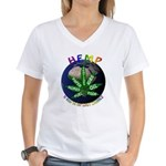 Hemp Planet Women's V-Neck T-Shirt