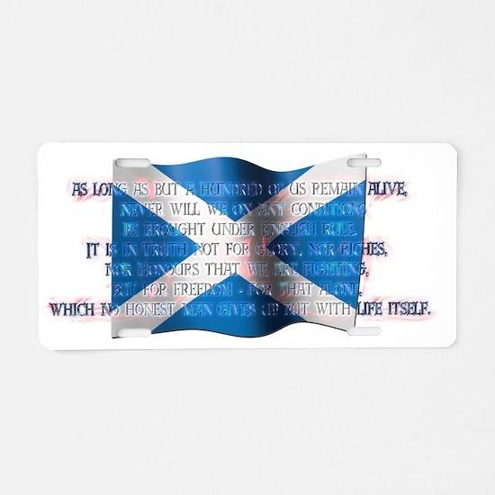 ArbroathDeclaration Aluminum License Plate