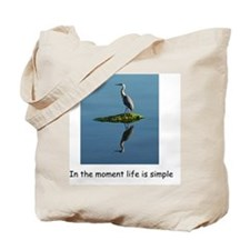 Heron Reflection shirt Tote Bag