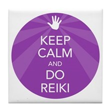 SHIRT KEEP CALM PURPLE Tile Coaster