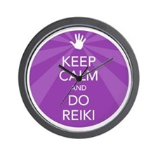 SHIRT KEEP CALM PURPLE Wall Clock