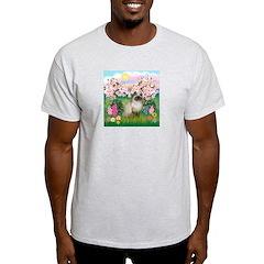 Blossoms & Himalayan cat T-Shirt