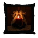 Kissing Angels Throw Pillow