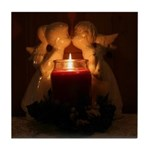 Kissing Angels Tile Coaster