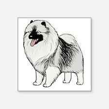 """keeshondblackshirt Square Sticker 3"""" x 3"""""""
