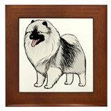 Pet keeshound Framed Tiles