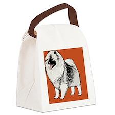 keeshondtile Canvas Lunch Bag