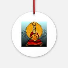 DHALAI-LLAMA-THROW-PILLOW.gif Round Ornament