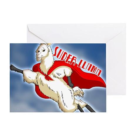 SUPER-LLAMA-THROW-PILLOW.gif Greeting Card