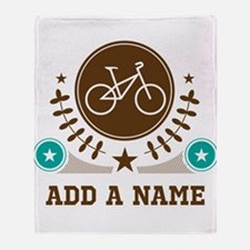 Personalized Biking Throw Blanket