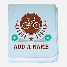 Personalized Biking baby blanket