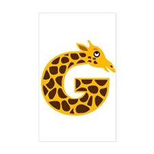 G is for Giraffe Rectangle Decal