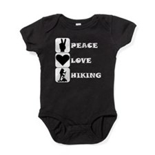 Peace Love Hiking Baby Bodysuit