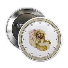 "CLOCK Mrs, Tiggle-Winkle Silver Star 2.25"" Button"