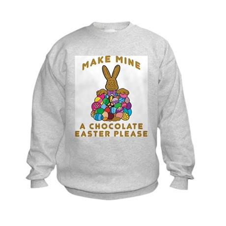 Chocolate Easter Kids Sweatshirt