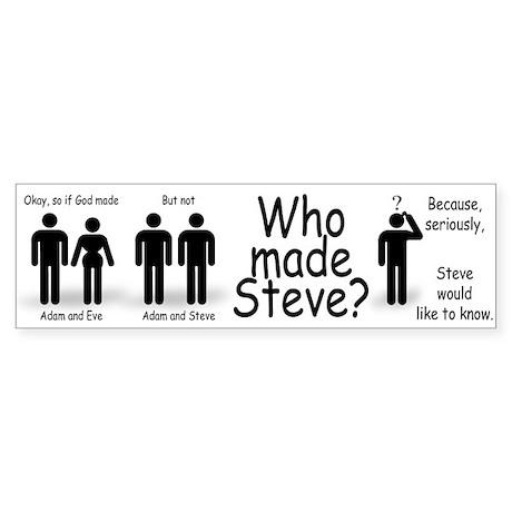 Who Made Steve Sticker (Bumper)