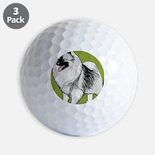 keeshond3g Golf Ball