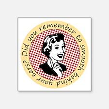 "retro-woman-large Square Sticker 3"" x 3"""