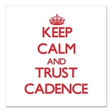 "Keep Calm and TRUST Cadence Square Car Magnet 3"" x"