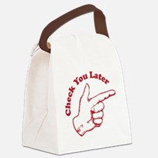checkyoulater Canvas Lunch Bag