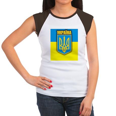 Ukraine (iPh4 half) Women's Cap Sleeve T-Shirt