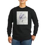 Orchid Long Sleeve Dark T-Shirt
