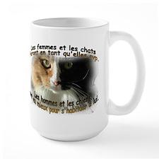 Les femmes et les chats Mug(2-sided)