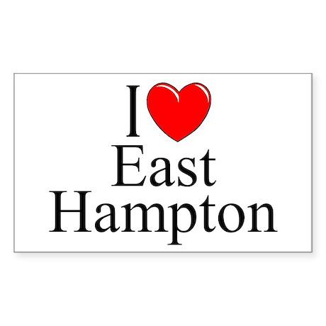 """I Love East Hampton"" Rectangle Sticker"