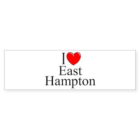 """I Love East Hampton"" Bumper Sticker"