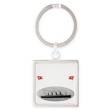 TG2 GhostTransWhite12x12USETHIS Square Keychain