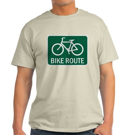Bike Route Road Sign Light T-Shirt