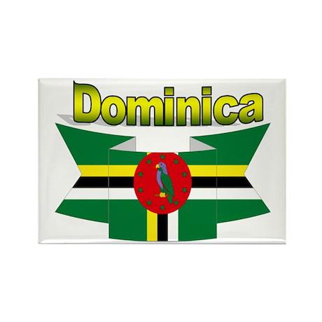 Dominica republic flag ribbon Rectangle Magnet (10
