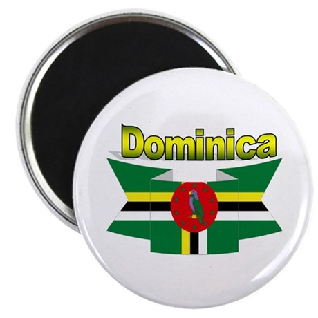 Dominica republic flag ribbon Magnet