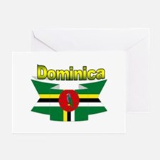 Dominica republic flag ribbon Greeting Cards (Pack