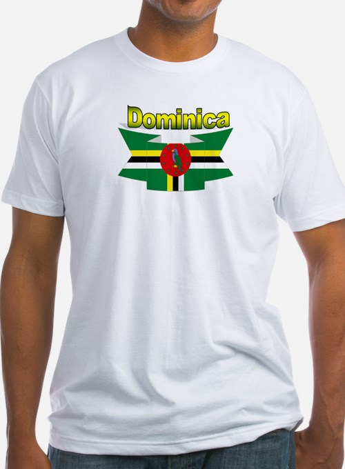 Dominica republic flag ribbon Shirt