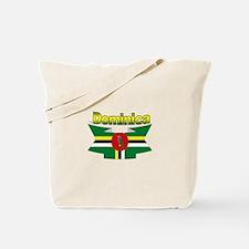 Dominica republic flag ribbon Tote Bag