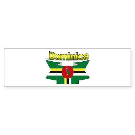 Dominica republic flag ribbon Bumper Sticker