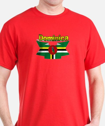Dominica republic flag ribbon T-Shirt