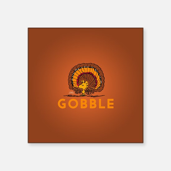 "Gobble Square Sticker 3"" x 3"""