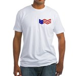 Free Because of Patriots (ver 2) Fitted T-Shirt